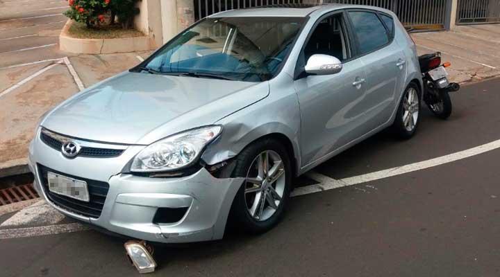 Uberaba: Colisão entre moto e carro deixa duas pessoas feridas